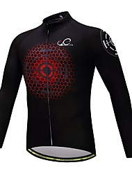 cheap -Long Sleeve Cycling Jersey Bike Top, Lightweight, Spring, Polyester / Spandex / Quick Dry / Spandex / Quick Dry
