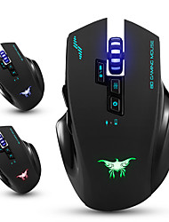 Combaterwing CW100 Wireless Gaming Mouse Optical Mice with 4 Adjustable DPI Levels 8 Buttons 3 Colors Breathing Lights for PC