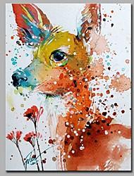 economico -un cerbiatto tra i fiori decorazione della parete dipinti a mano dipinti ad olio contemporanei opere d'arte moderna arte della parete