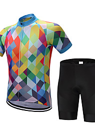 cheap -FUALRNY® Cycling Jersey with Shorts Men's Short Sleeves Bike Clothing Suits Quick Dry Moisture Permeability Reduces Chafing Sweat-wicking
