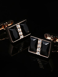 cheap -Geometric Golden Cufflinks Gift Boxes & Bags / Fashion Men's Costume Jewelry For