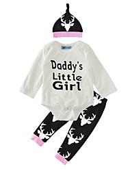 cheap -Baby Girls' Cartoon Casual / Daily Animal / Fashion Long Sleeve Cotton Clothing Set
