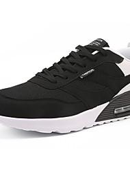 Недорогие -Для мужчин Спортивная обувь Удобная обувь Весна Осень Дышащая сетка Для прогулок Повседневные Шнуровка На плоской подошвеСерый