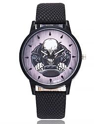 Муж. Модные часы Наручные часы Уникальный творческий часы Китайский Кварцевый Кожа Группа Винтаж Cool Повседневная Элегантные часы Черный
