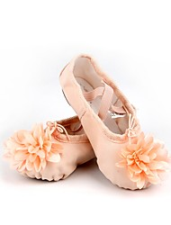 cheap -Kids' Ballet Cotton Canvas Split Sole Indoor Pink Customizable