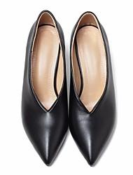 preiswerte -Damen Schuhe Leder Herbst Pumps High Heels Stöckelabsatz Spitze Zehe für Normal Büro & Karriere Weiß Schwarz Grün