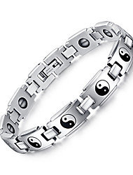 cheap -Men's Chain Bracelet / Bangles - Natural, Fashion Bracelet Silver For Gift / Daily