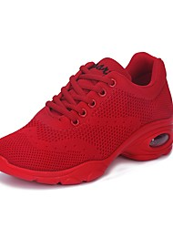 "cheap -Women's Dance Sneakers Breathable Mesh Sneaker Outdoor Low Heel Red Black White 1"" - 1 3/4"""