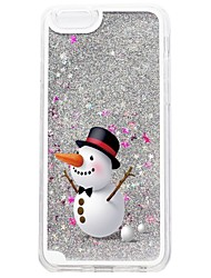 For iPhone 7 iPhone 7 Plus Case Cover Flowing Liquid Pattern Back Cover Case Glitter Shine Christmas Hard PC for Apple iPhone 7 Plus