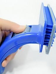 Chat Chien Toilettage Nettoyage Peignes Brosses Massage Bleu