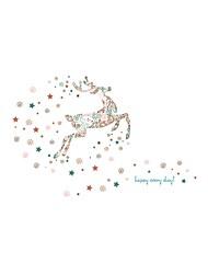 Недорогие -Животное Рождество Стикер на окна, ПВХ/винил материал окно Украшение Для гостиной