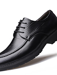 cheap -Men's Shoes Real Leather Leather Fall Winter Comfort Formal Shoes Oxfords Flat Heel Pointed Toe Round Toe Lace-up For Casual Office &