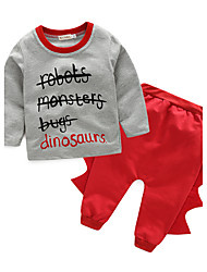 Baby Boys' Daily Print Clothing Set Spring/Fall