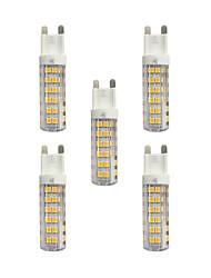 Недорогие -5 ед. 4.5W G9 Двухштырьковые LED лампы T 76 светодиоды SMD 2835 Тёплый белый Белый 360lm 3000-3500/6000-6500K AC 220-240V