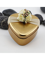 cheap -Round Square Heart Iron(nickel plated) Favor Holder with Printing Favor Boxes Gift Boxes Candy Jars and Bottles - 10