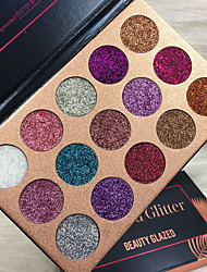 Lidschattenpalette Schimmer Lidschatten-Palette Puder Smokey Makeup Alltag Make-up Halloween Make-up Party Make-up Feen Makeup Cateye