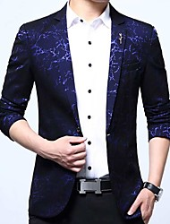 cheap -Men's Casual/Daily Casual Chinoiserie Fall Winter Blazer