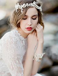 Imitation de perle Casque-Mariage Occasion spéciale Serre-tête Chaîne pour Cheveux 1 Pièce
