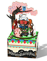 cheap -Music Box Square Horse Cartoon DIY Romantic Unisex Gift