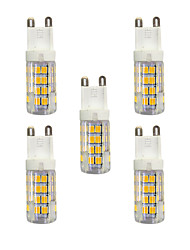 cheap -5 pcs 3W G9 LED Bi-pin Lights T 51 leds SMD 2835 Warm White White 240lm 3000-3500/6000-6500K AC 220-240V