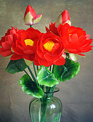 cheap -1 Branch Plastic Plants Tabletop Flower Lotus Artificial Flowers Multicolor Optional