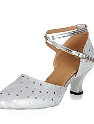 """preiswerte -Damen Modern Leder Absätze Innen Mini Punkte Maßgefertigter Absatz Gold Silber 2 """"- 2 3/4"""" Maßfertigung"""