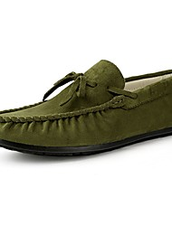 cheap -Men's Shoes Suede Spring Fall Driving Shoes Loafers & Slip-Ons Bowknot for Casual Gray Yellow Brown Green Blue