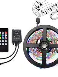Light Bar Set 5 Meters 3528 Light Bar 300LED DC12V Waterproof Flexible LED Light RGB With Music Controller