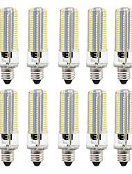 baratos -BRELONG® 10pçs 8W 700lm Lâmpadas Espiga 152 Contas LED SMD 3014 Regulável Branco Quente Branco 220V 110V
