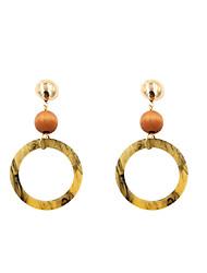 cheap -Women's Geometric Drop Earrings - Personalized, Bohemian, Boho Coffee For Gift / Evening Party