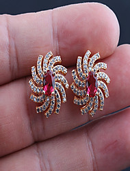 cheap -Women's Stud Earrings AAA Cubic Zirconia Fashion Luxury Cubic Zirconia Titanium Steel Sun Jewelry For Daily Office & Career