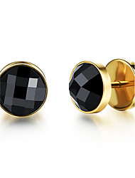 cheap -Men's Rhinestone Stud Earrings - Fashion / Rock Gold / Silver Earrings For Daily / Casual