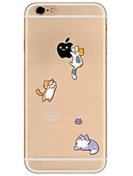 economico -Per iPhone X iPhone 8 Custodie cover Transparente Fantasia/disegno Custodia posteriore Custodia Con logo Apple Gatto Morbido TPU per Apple
