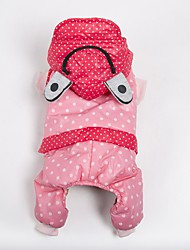 Dog Costume Coat Hoodie Clothes/Jumpsuit Dog Clothes Casual/Daily Keep Warm Sports Polka Dots Blushing Pink Yellow Orange