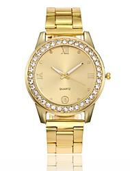 abordables -Mujer Cuarzo Reloj de Pulsera Chino Gran venta Aleación Banda Casual Reloj creativo único Reloj de Vestir Moda Plata Dorado Oro Rosa