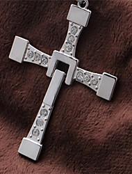 Недорогие -Муж. Жен. Кулоны - Крест Серебряный Ожерелье Бижутерия Назначение Повседневные