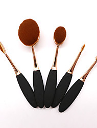 cheap -YZIMENG® 5pcs Gold Rose Makeup Brush Set Blush/Concealer/Powder/Eyeshadow Synthetic Hair Travel Professional Make Up for Face