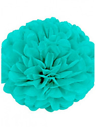Tiffany Blue (Set of 10) - 4 inch Paper Tissue Pom Pom Flower Beter Gifts® DIY Wedding Party Decoration