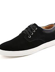 baratos -Homens sapatos Couro / Pele Primavera / Verão Conforto / Sapatos de mergulho Tênis Marron / Azul / Vinho / 3D