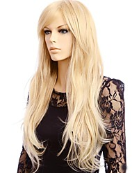 Women Synthetic Wig Capless Long Straight Blonde Natural Wig Costume Wigs