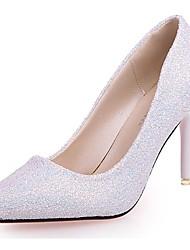 preiswerte -Damen Schuhe Paillette Herbst Pumps High Heels Stöckelabsatz Spitze Zehe Paillette Für Normal Weiß Schwarz Purpur Rosa