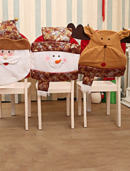 1 PC Santa Claus Christmas Chair Cover Skiing Style Event Xmas Holiday Party Supplies Drop shipping