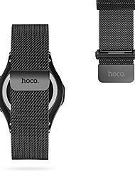 cheap -For HOCO Samsung Gear S3 Watch Band Stainless Steel Milanese Loop Magnetic Watch Replacement 22mm Black&Silver