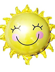 cheap -65Cm*65Cm Sunflower Sun Smiley Sun Aluminum Foil Balloons