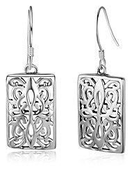 Women's Hoop Earrings Tassel Sterling Silver Square Jewelry For Birthday Office & Career