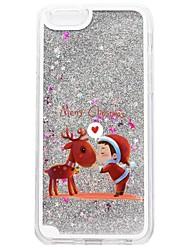 abordables -Funda Para Apple iPhone 7 Plus iPhone 7 Líquido Diseños Funda Trasera Navidad Brillante Dura ordenador personal para iPhone 7 Plus iPhone