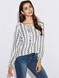Camicia Da donna Per uscire VintageA strisce Colletto Rayon Manica lunga