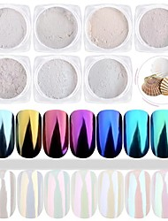cheap -7Bottles/Set Nail Art Shining Powder Mirror Effect Shimmer Nail DIY Colorful Decorations