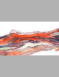 Недорогие -Ручная роспись Цветочные мотивы/ботанический Горизонтальная,Абстракция 1 панель Холст Hang-роспись маслом For Украшение дома