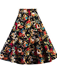 cheap -Women's Going out Midi Skirts, Vintage A Line Others Floral Summer